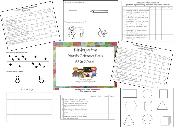 Miss Nguyen's Class: Kindergarten Common Core Math Assessment