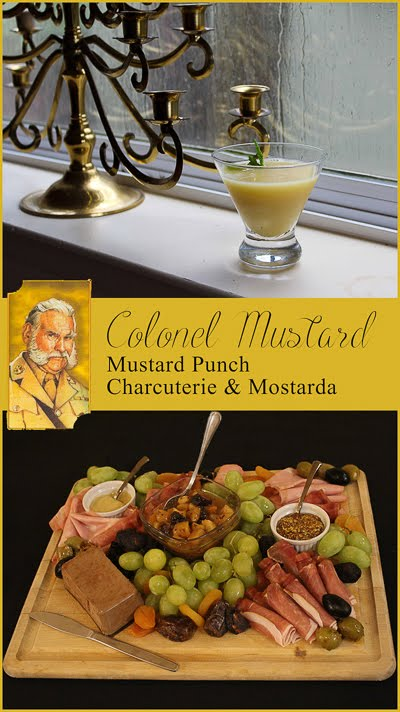 Colonel Mustard platter of meats and fruits and mostarda