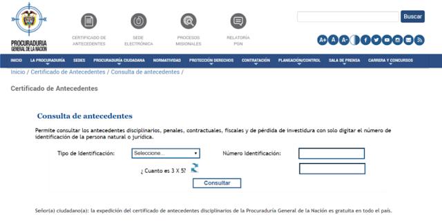 Certificado Antecedentes Disciplinarios Procuraduría