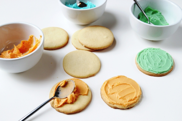 Making Halloween Monster Cookies