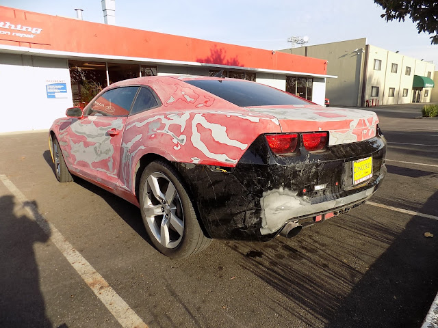 Chevy Camaro before paint at Almost Everything Auto Body.