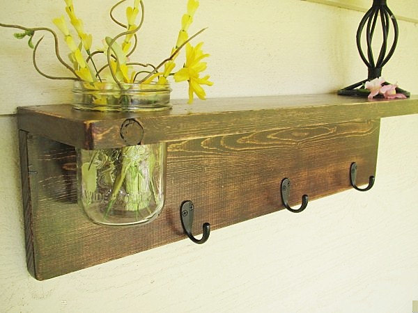 Art Wall Decor: Rustic Wood Wall Shelves