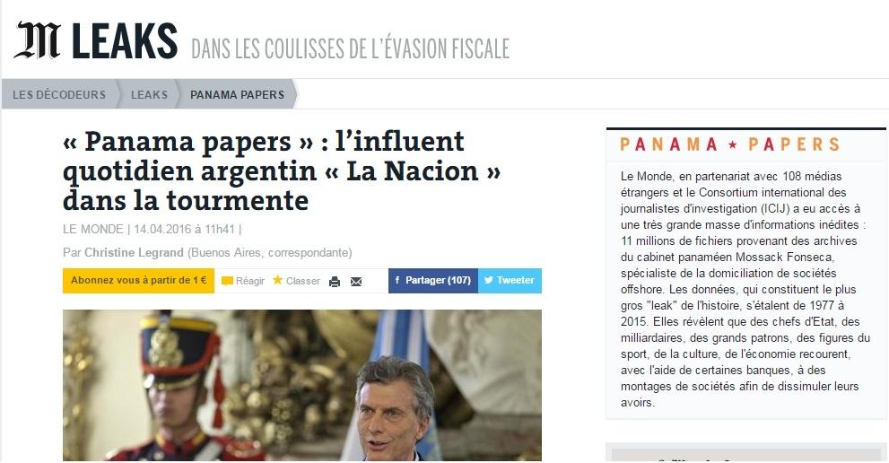 Islas Malvinas 01 Panama Papers Dura Crítica Al Diario Argentino