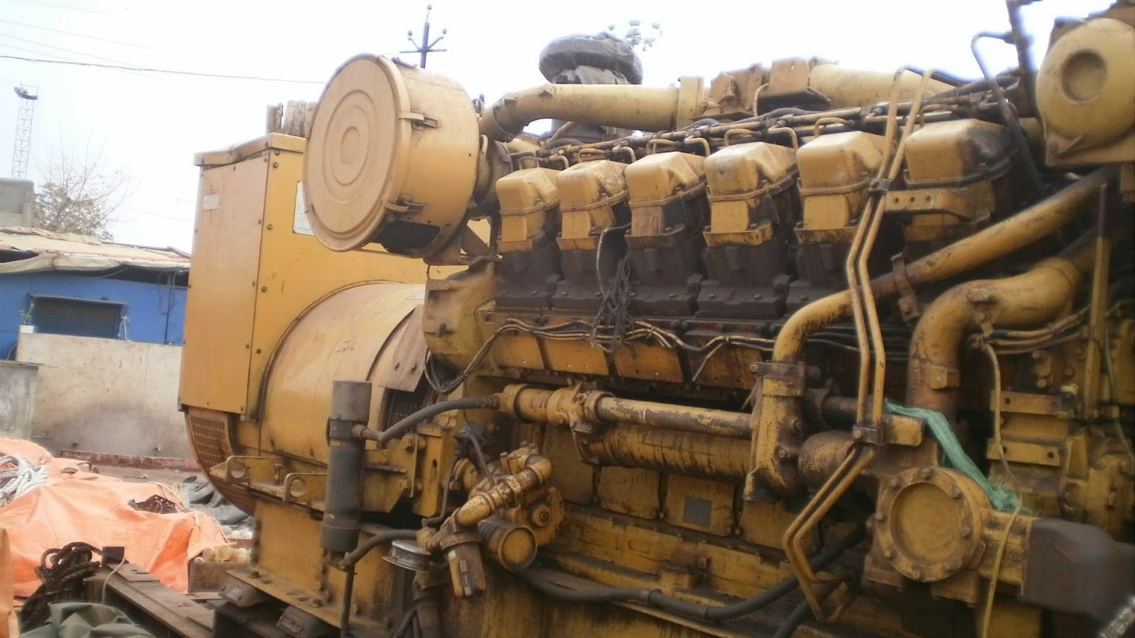 CAT 3512, Caterpillar Diesel Generator for Sale, Used, Second Hand, India, Alang, Low running hours, rebuilt, ready to dispatch