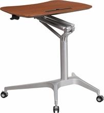 height adjustable laptop desk on wheels