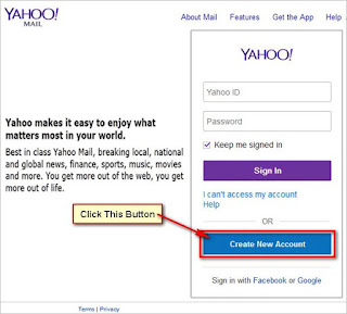 Create new Yahoo account