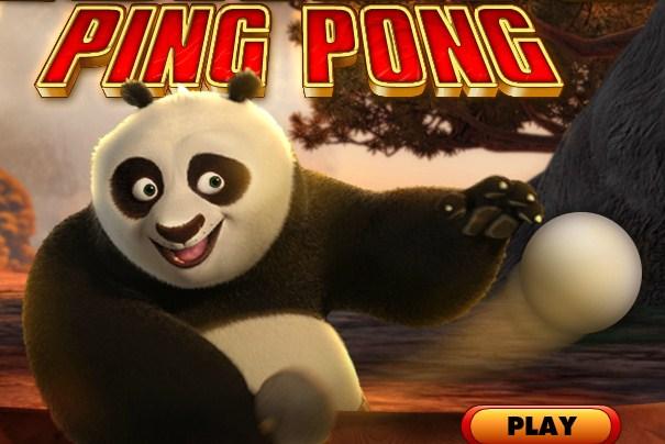 Kung Fu Panda Ping Pong game