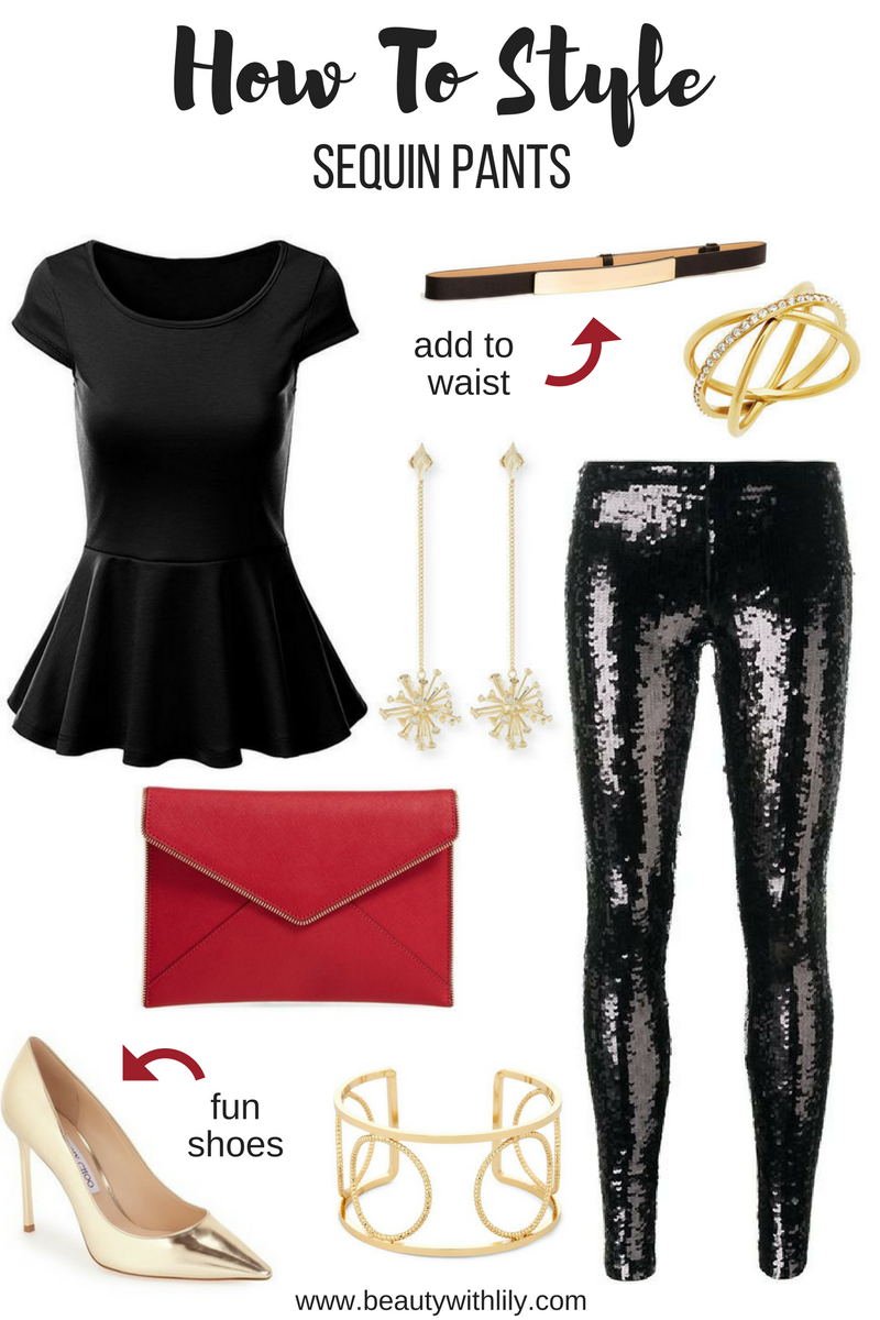How To Style Sequin Pants