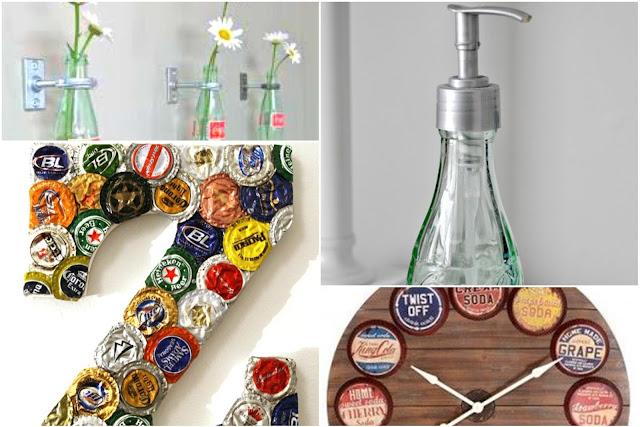 Soft Drinks Bottles For Stylish Modern Decor - 10 DIY Glass Bottles Ideas