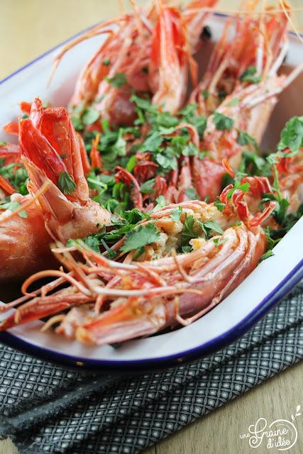 Crevettes Coriandre Beurre Gingembre Citronnelle