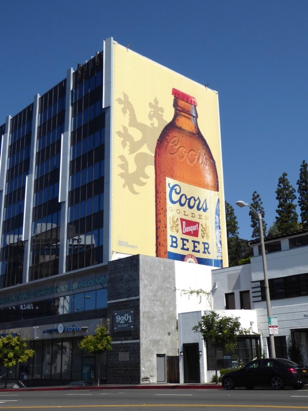 Giant Coors Golden Banquet Beer billboard