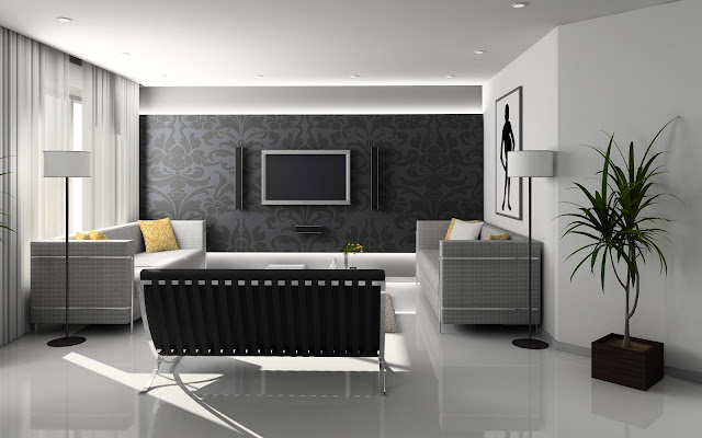 Modern Living Room Best Interior Design HD Wallpaper