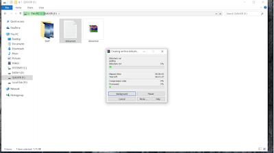 menunggu waktu kompres file
