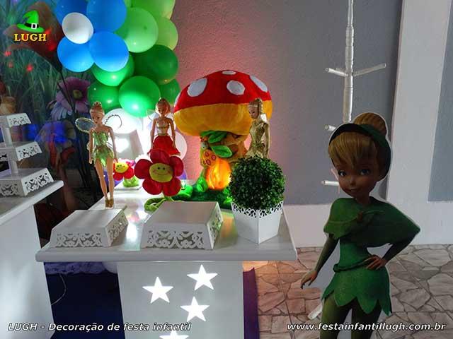 Ornamentação mesa de festa de aniversário infantil tema Tinker Bell (Sininho)
