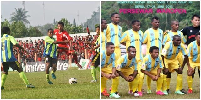 Sepakbola Papua : Belang Jersey Hingga Prestasi, persewon wondama, persewar waropen