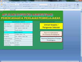 Download Format Supervisi Kelas Terbaru dengan Menggunakan MS. Excel