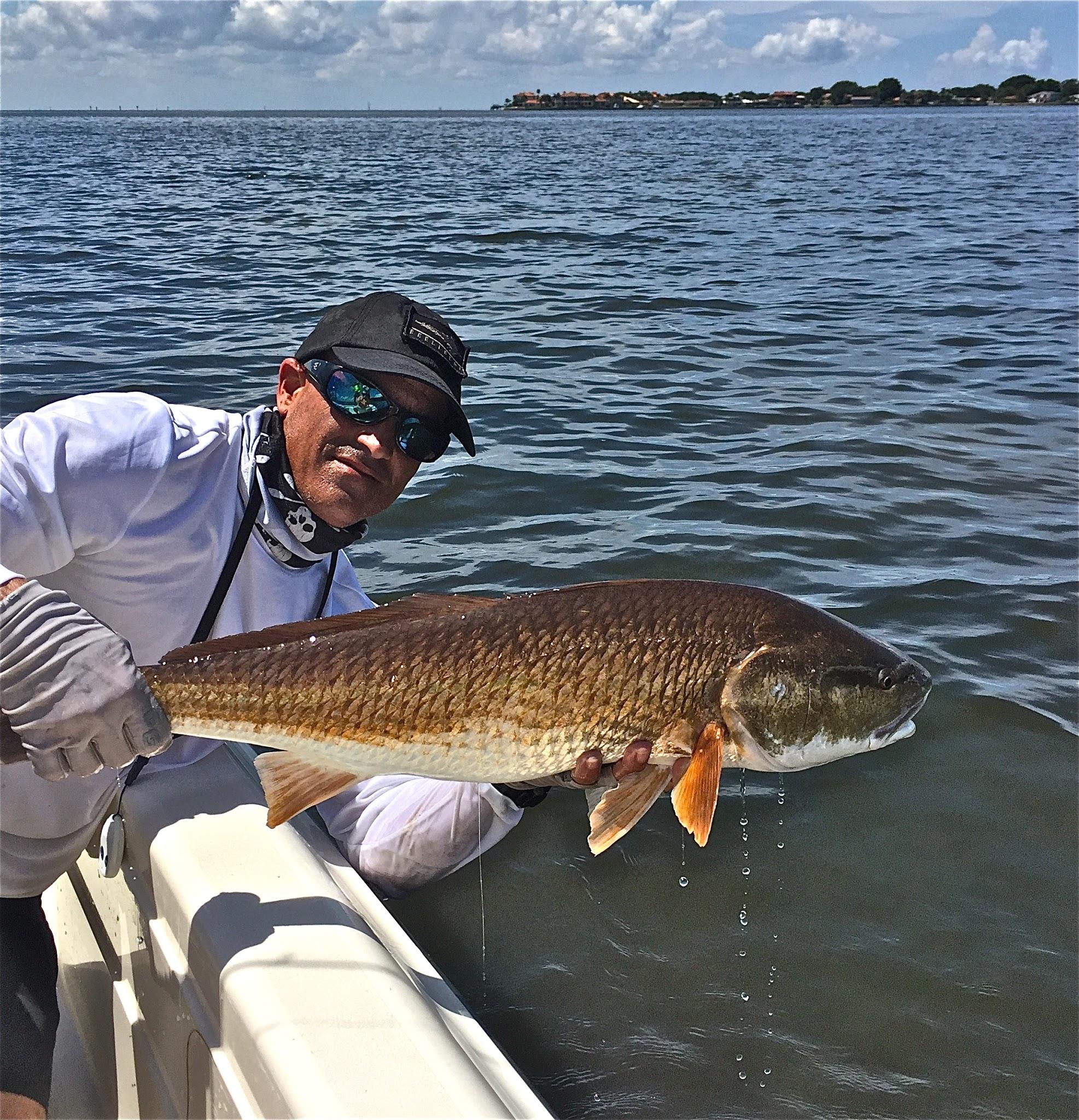Capt Chris With Redfish