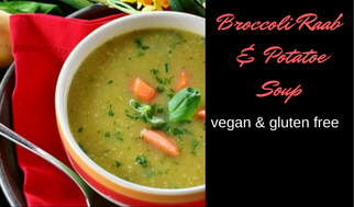 broccoli raab and potato soup