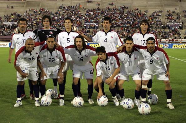 Formación de Chile ante Venezuela, amistoso disputado el 7 de febrero de 2007