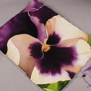 Painting A Pansy Step By Step