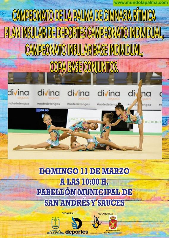 Más de 120 gimnastas compiten en el Campeonato Insular de Gimnasia Rítmica