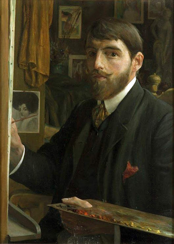 Leo Gestel, Self Portrait, Portraits of Painters, Fine arts, Portraits of painters blog, Paintings of Leo Gestel, Painter Leo Gestel