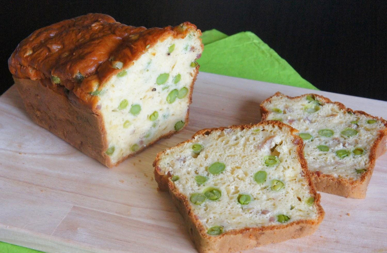 Cake aux petits pois frais lardons et comt - Cuisiner les petits pois frais ...