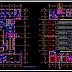 مخطط مشروع وحدة اطفاء الحرائق اوتوكاد dwg