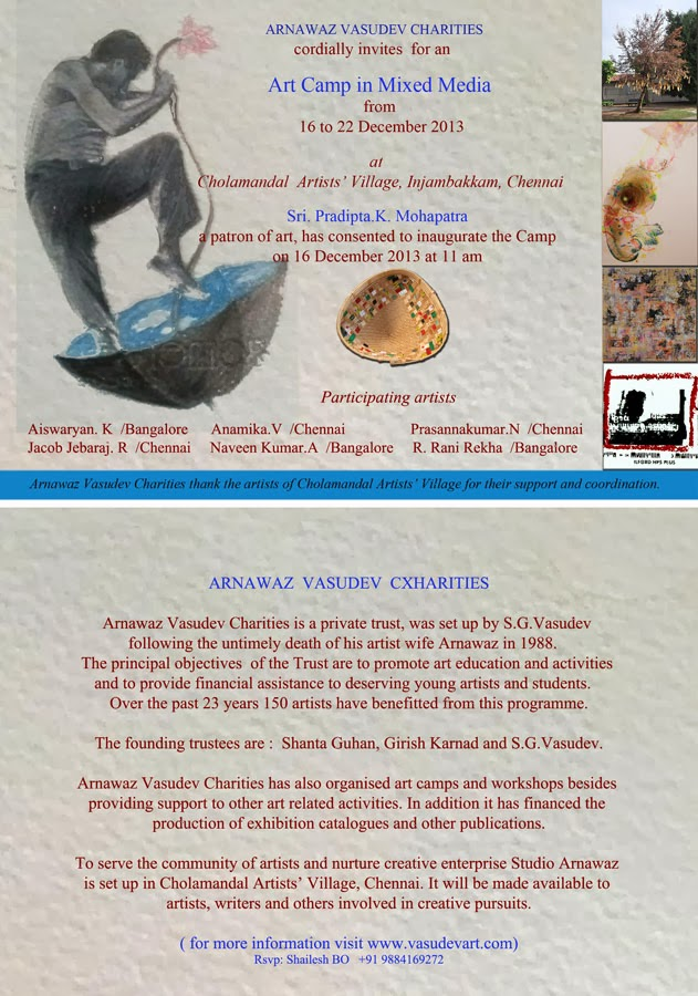 Arnawaz Vasudev Charities: Art Camp at Cholamandal