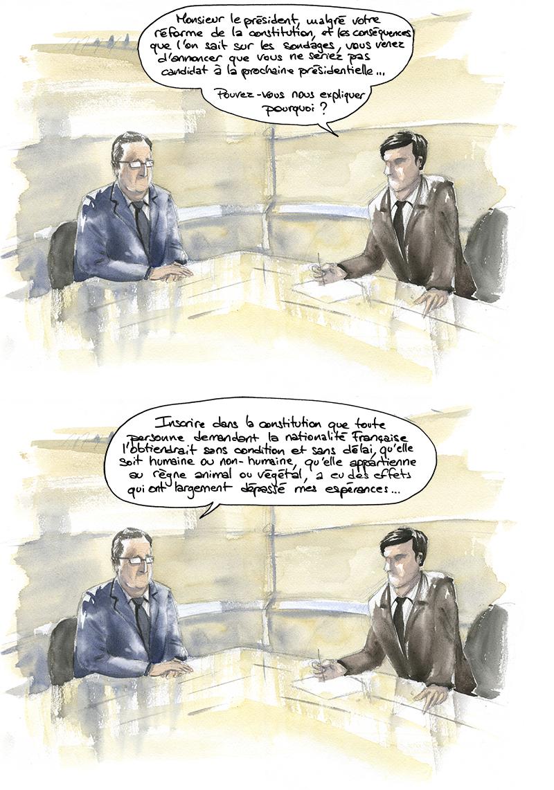 François Hollande, réforme de la constitution animiste