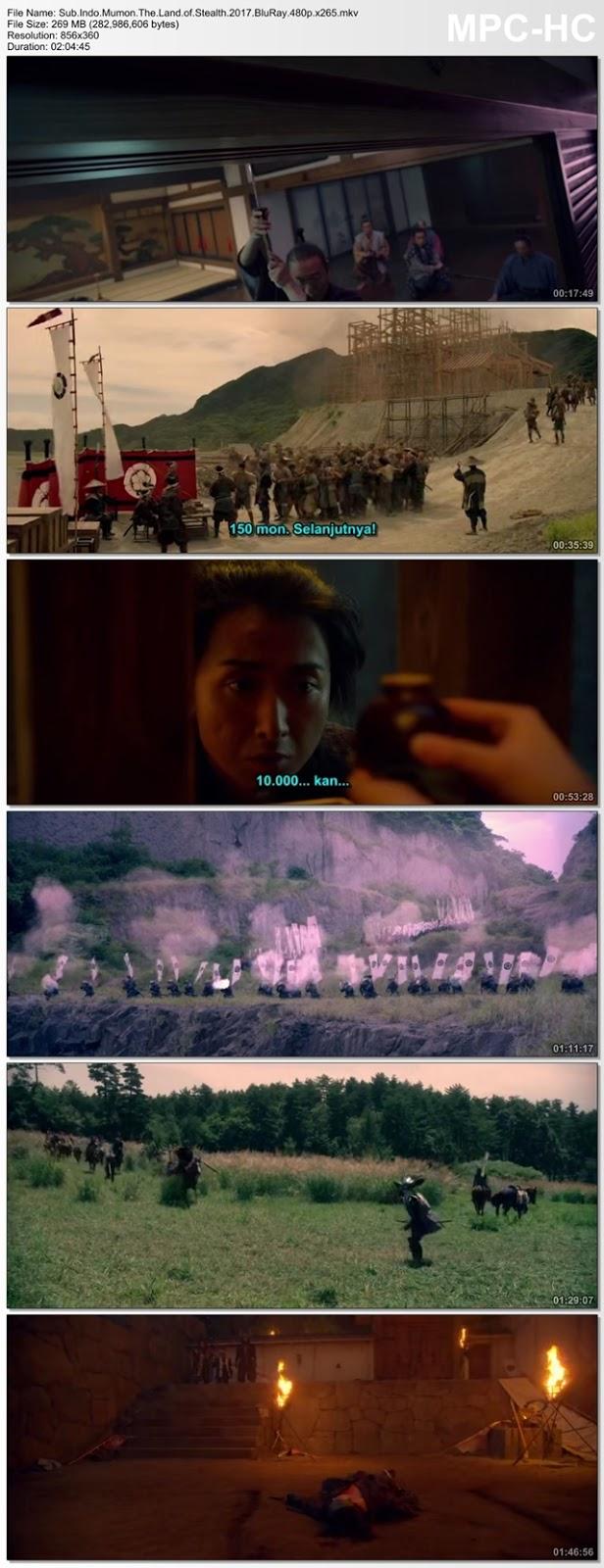 Screenshots Movie Sub.Indo.Mumon: The Land of Stealth aka Shinobi No Kuni aka Ninja Doi Dau Samurai.2017.BluRay.480p.x265.mkv