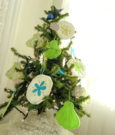 Sea Life Fabric Christmas ornaments