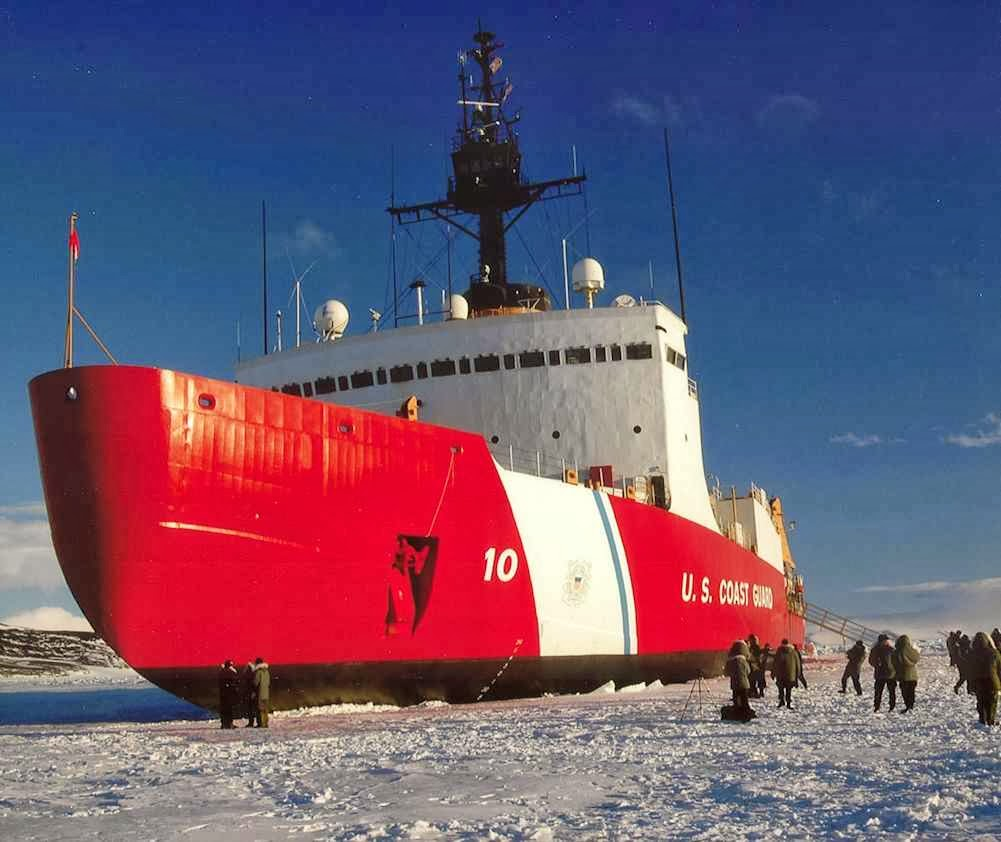 USCG Polar Star. O vilipendiado vilão aquecedor do planeta (EUA) é a única esperança para solucionar a trapalhada