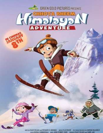 Poster Of Chhota Bheem Himalayan Adventure 2016 Hindi 130MB DVDRip HEVC Mobile ESubs Watch Online Free Download Worldfree4u