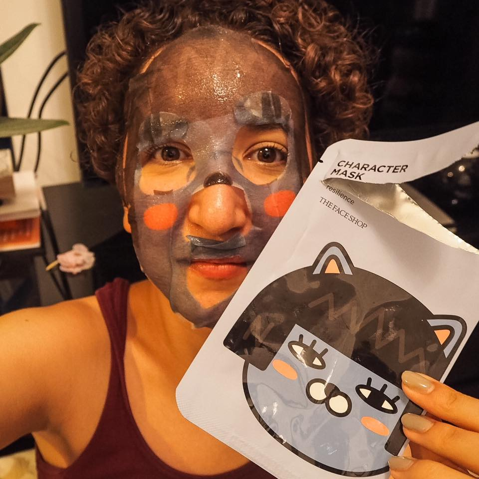 Korean beauty character face masks