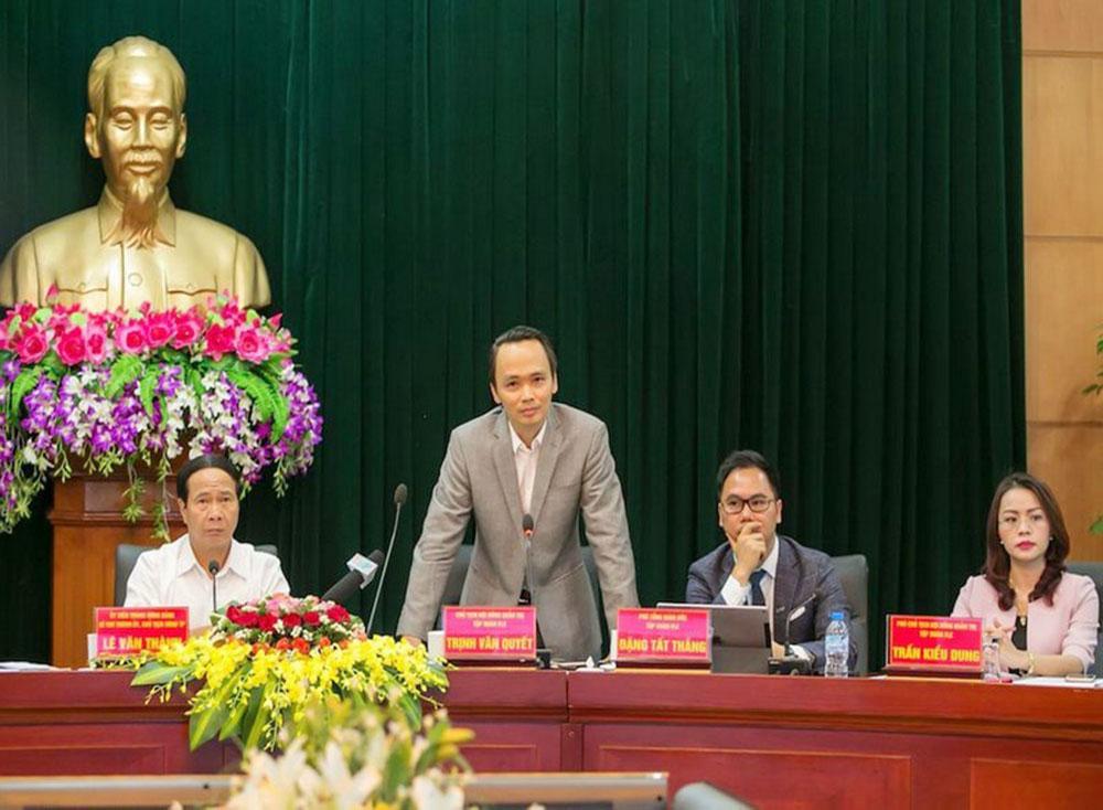 Ông Trịnh Văn Quyết phát biểu tại Hội nghị.