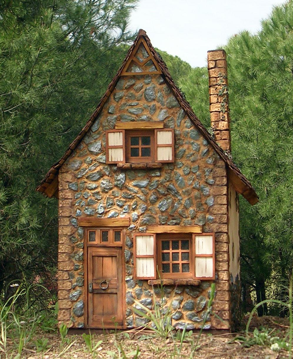 Miniaturas kriana la casa de la bruja n 6 salvaje de for How to build a stone cabin