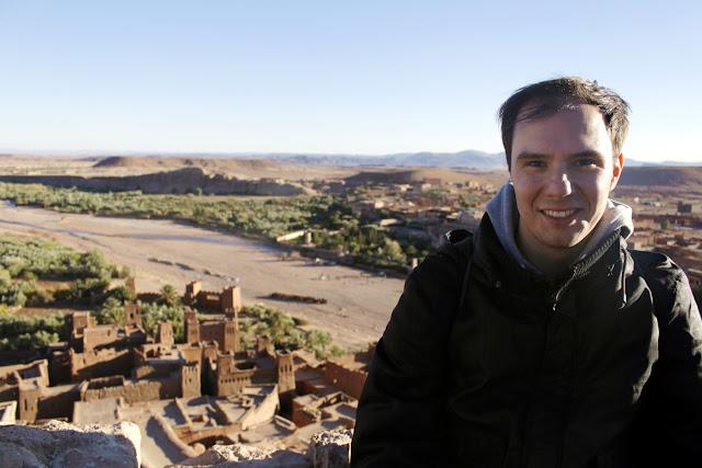 Alberto en la Kasbah de Aït Ben Haddou