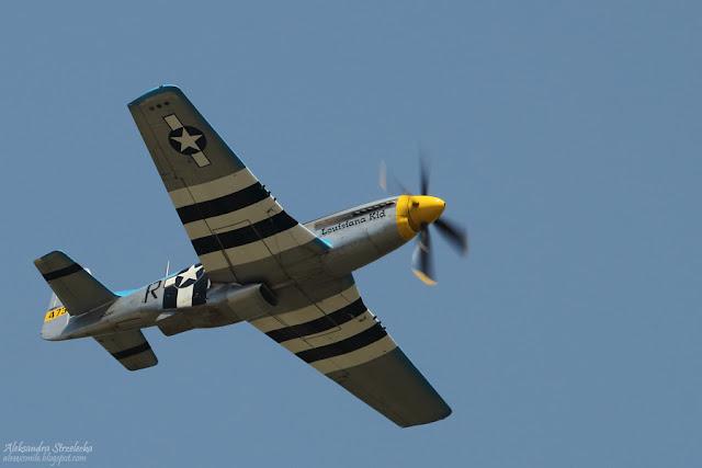 Samolot P-51D Mustang - XII  Małopolski Piknik Lotniczy