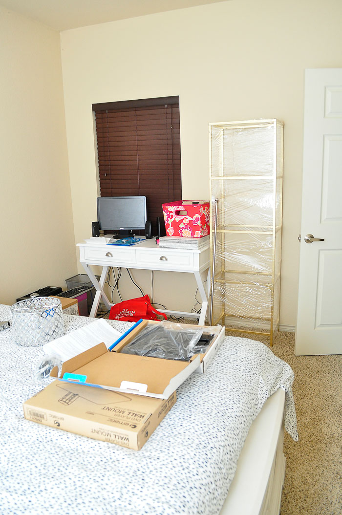 A 10x13 Apartment Bedroom Gets A Glam And Girly Makeover To Function As  Both A Guest