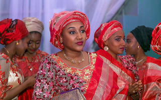 President Buhari's Daughter And Friends Glowing As They Attend A Wedding Ceremony 2