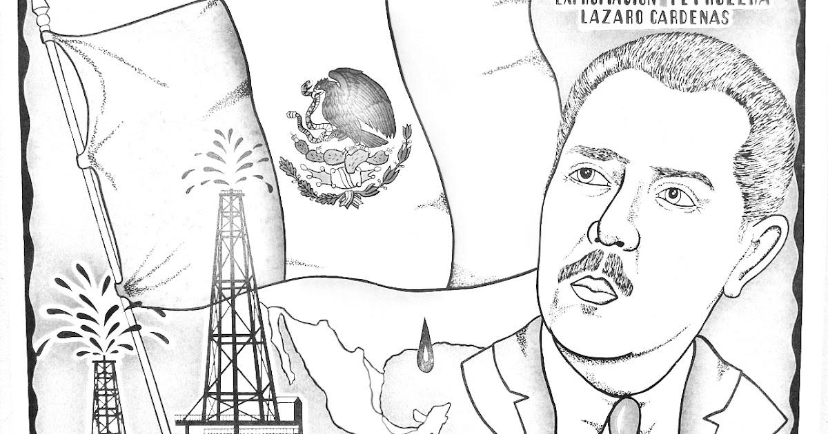 Pinto Dibujos Dibujo De Expropiacin Petrolera Para Colorear