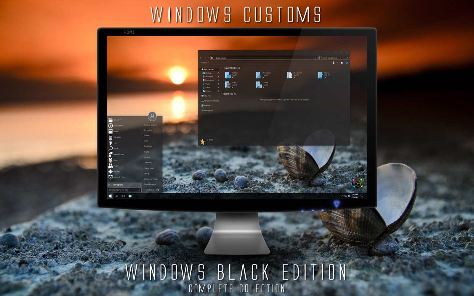 Windows Customs: Windows 10 Black Edition
