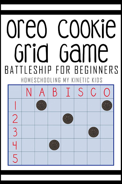 sample game board for Oreo grid game with cookies on board