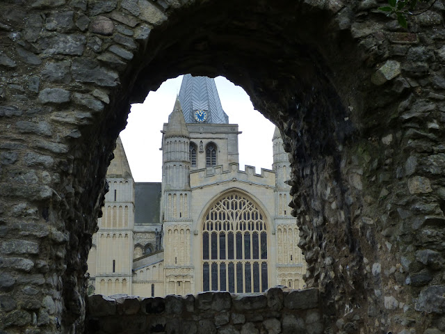 Rochester Cathedral seen from Rochester Castle