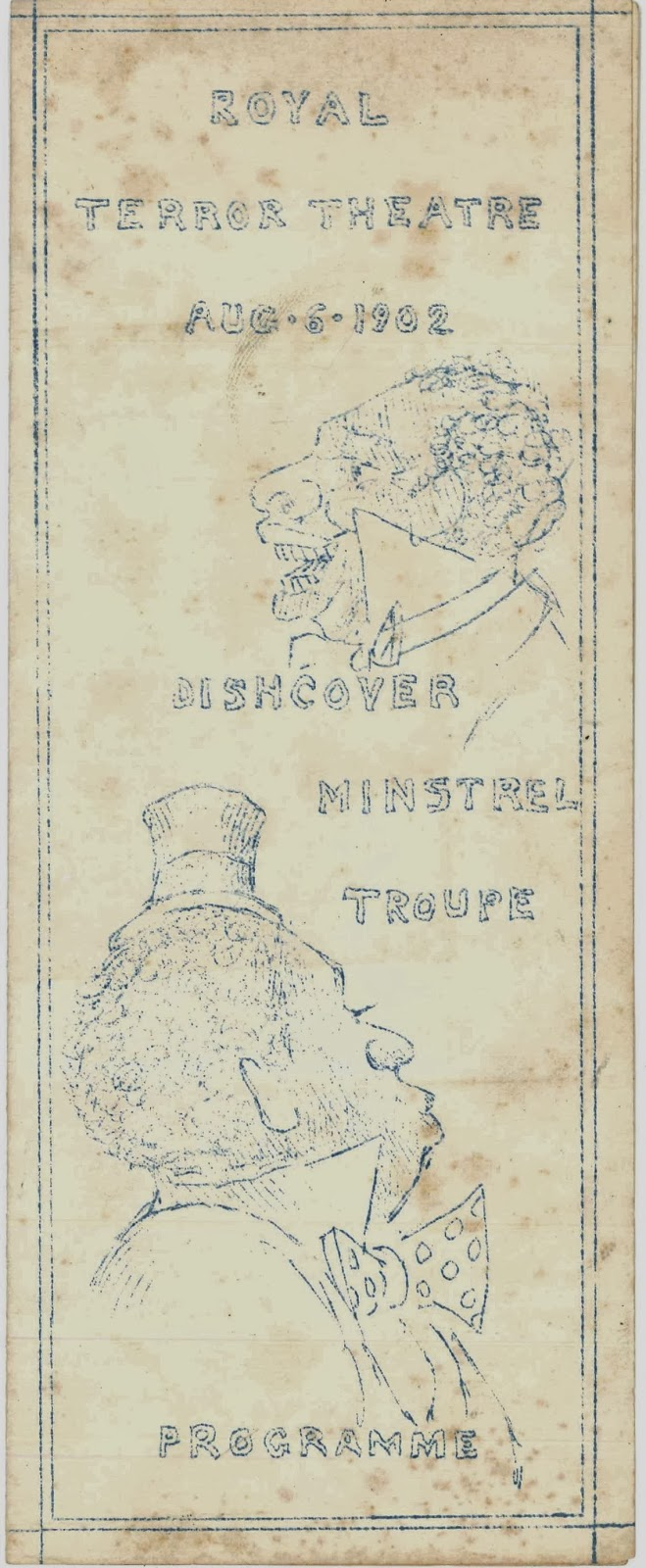 A program for a 1902 minstrel performance.