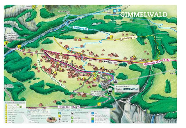 Mapa de Gimmelwald - Interlaken
