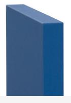 L'anta liscia squadrata è tipica dello stile moderno e minimalista