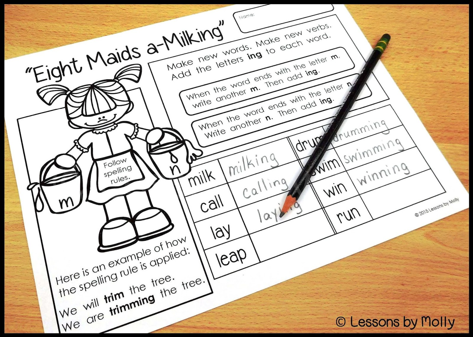 Inflected Endings Worksheet   Printable Worksheets and Activities for  Teachers [ 1139 x 1600 Pixel ]