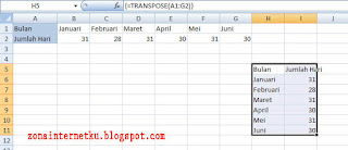 Memutar Atau Mengubah Data Tabel Dengan Menggunakan Rumus Transpose 3